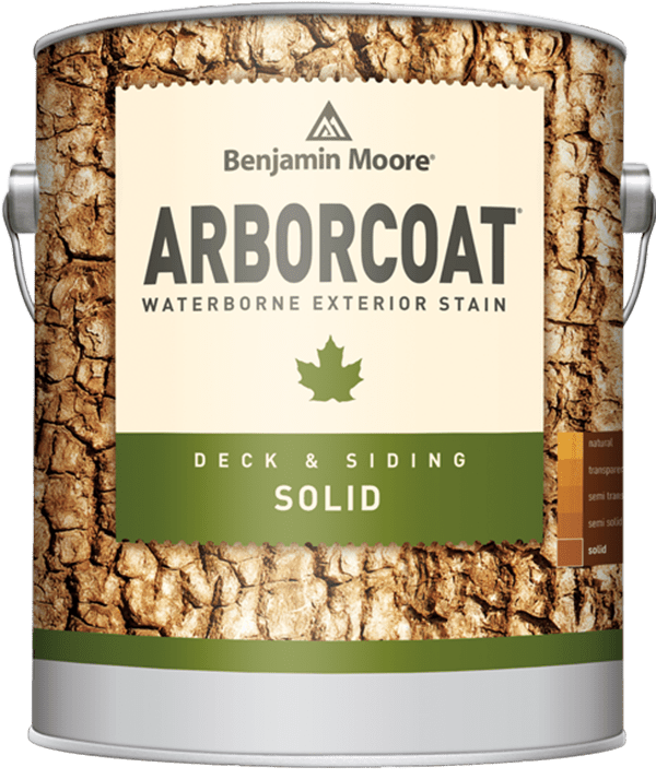 arborcoat solid exterior stain can