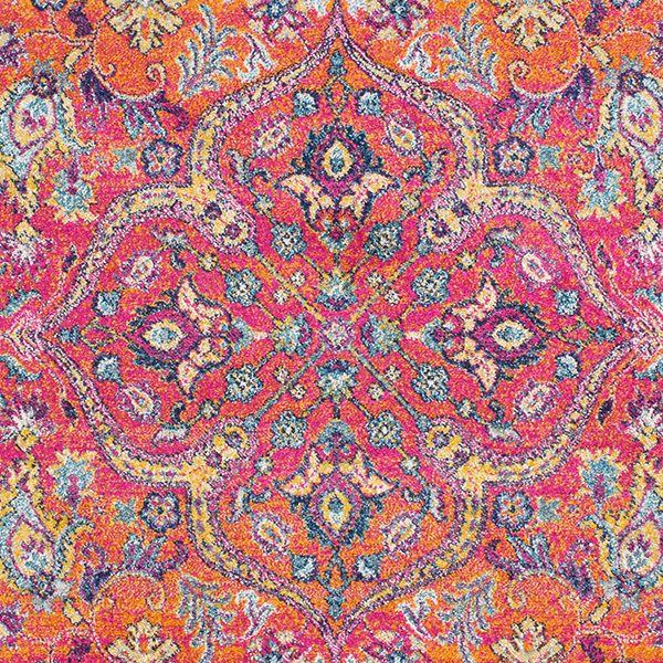 Brightly Coloured Surya Rug in Reds (HAP-1045)