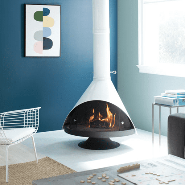 Room Scene with Benjamin Moore Colour Trends 2020 Buxton Blue and Blue Danube
