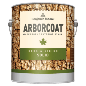 Can of Arborcoat solid stain