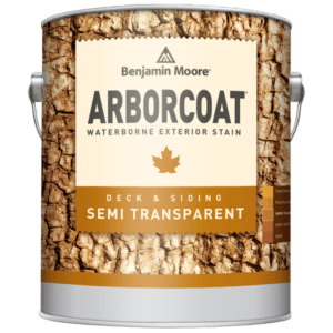 Can of semi-transparent Arborcoat stain