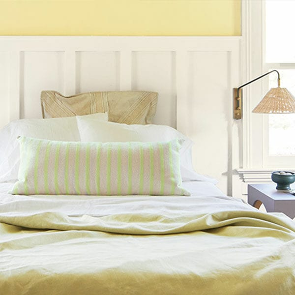 Room Scene with Benjamin Moore Colour Trends 2021 Beacon Hill Damask