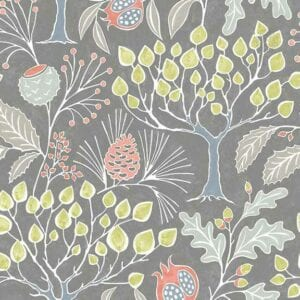groovy garden gray wallpaper sample