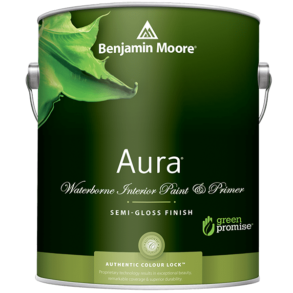 can of aura semi-gloss interior paint