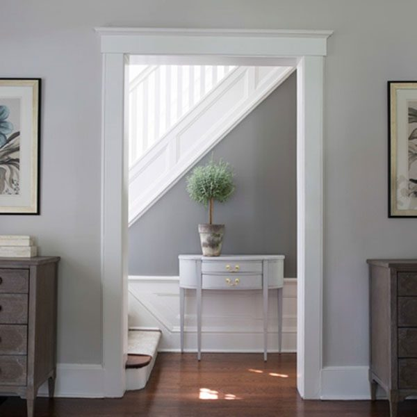 hallway painted with chelsea gray