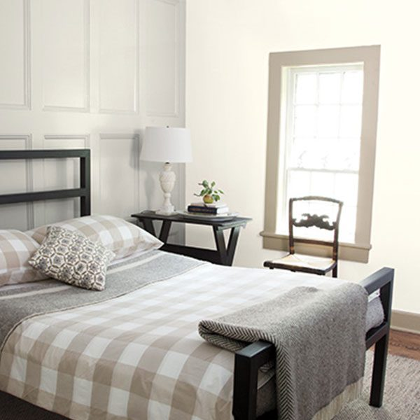 bedroom painted with classic gray