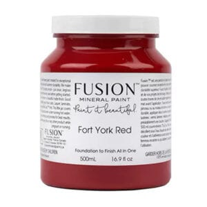 jar of fusion chalk paint fort york red