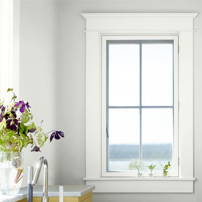 window with painted trim