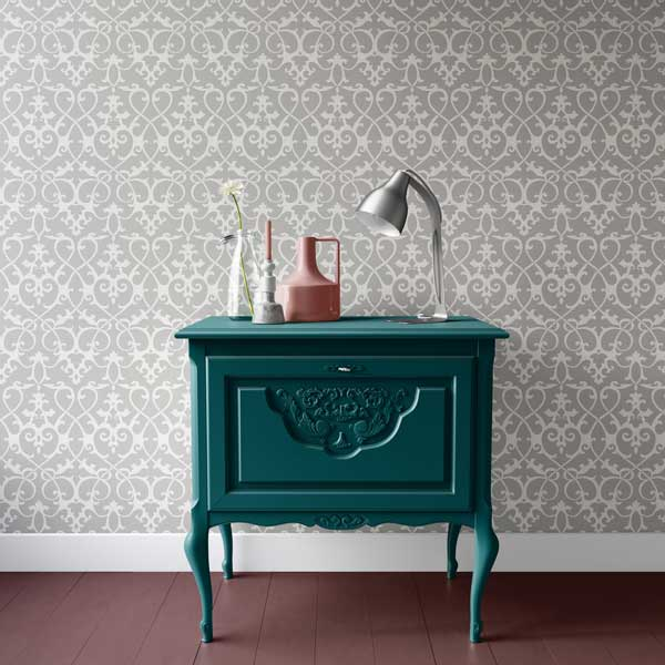 dresser painted in beau green