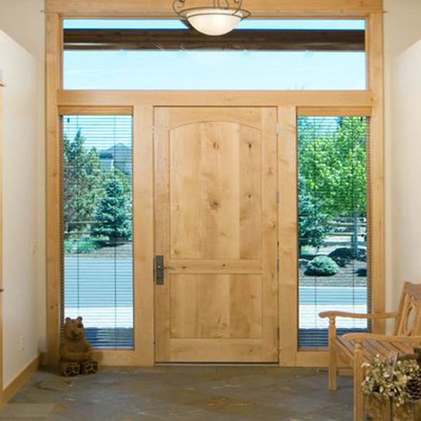 front door stained in old masters natural stain