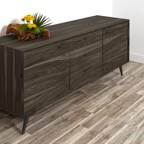 side bureau stained with saman black